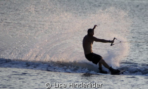 Evening Wake boarder by Lisa Hinderlider 